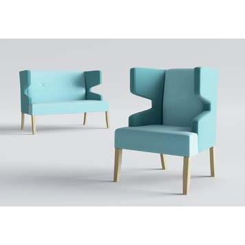 Office Furniture Now Seating Gresham | Izzey Sofa with Wooden Legs